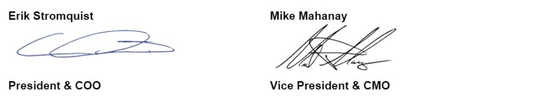 CTL Mike Mahanay Signature - Vice President and Chief Marketing Officer