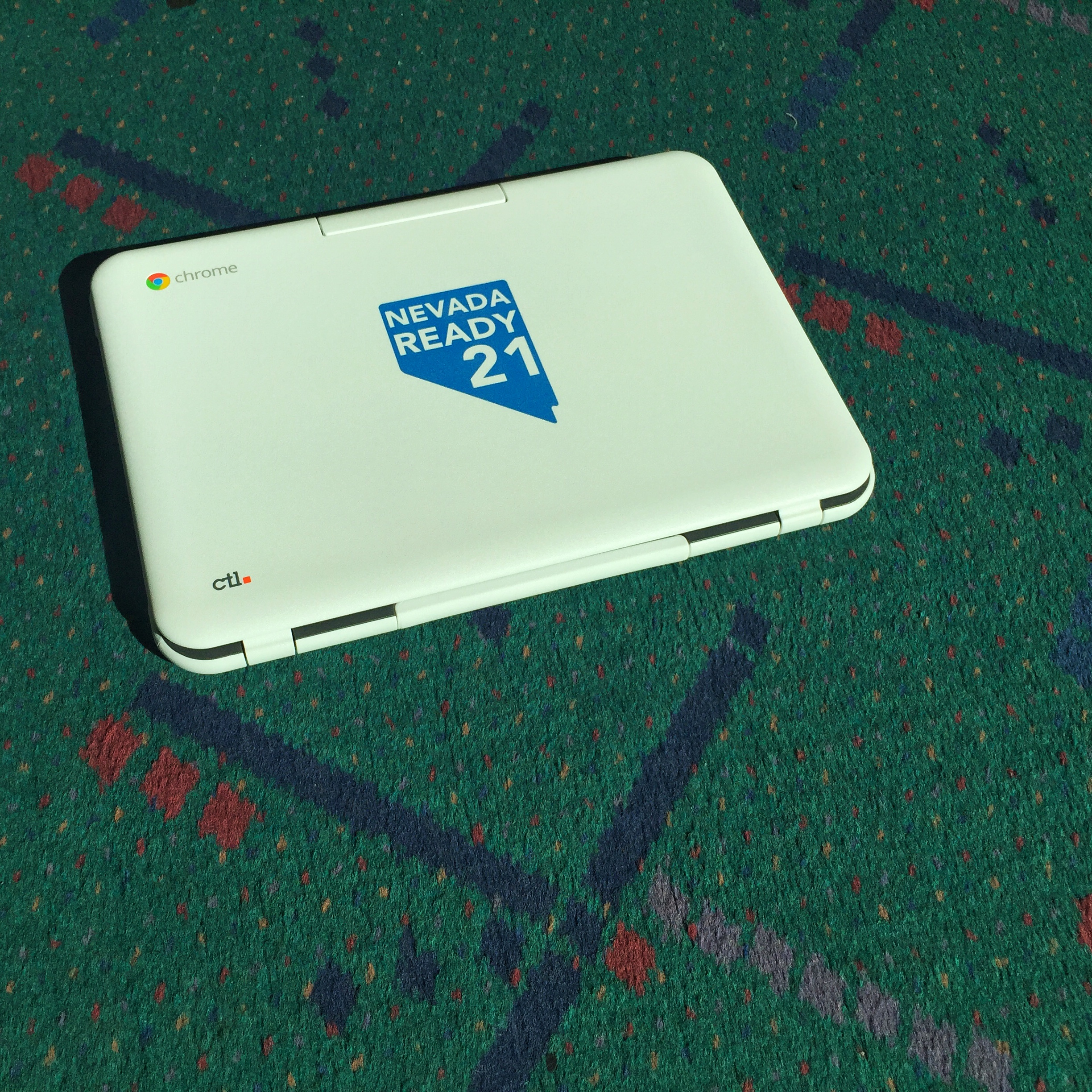 CTL Education NL6 Chromebook on Portland Airport Carpet